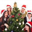 Christmas group and tree — Foto de Stock