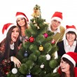 Christmas group and tree - Stock Photo