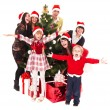 Christmas , children and tree — Stock Photo #1337191
