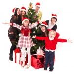 Christmas , children and tree — Stock Photo