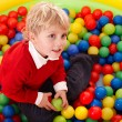 Royalty-Free Stock Photo: Happy birthday of  boy in color balls.