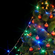 Christmas tree with light and flash. — Stock Photo #1337419
