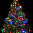 Christmas tree with led light. - Stock Photo