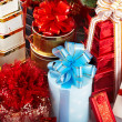 Group of christmas gift box. — Stock Photo