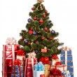 Christmas tree and group gift box. — Stock Photo #1337679