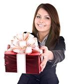 Happy birthday of business lady. — Stock Photo