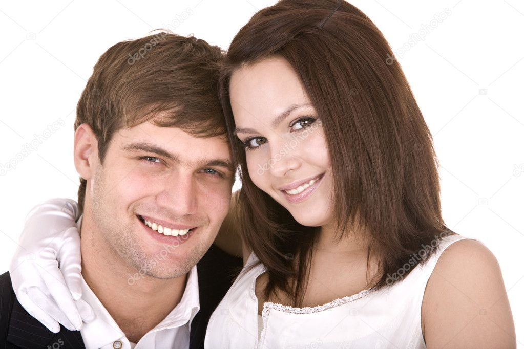  Couple of girl and man. Love and passion.  Stock Photo #1333923