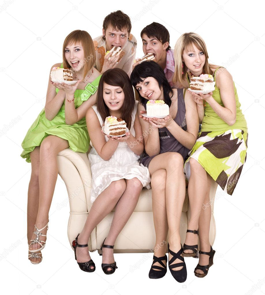 Group of eat cake. Isolated.  Stock Photo #1334317