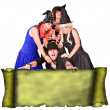 Group in witch costume — Stock Photo