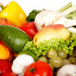 Group of fruit and vegetables. - Stock Photo