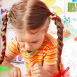 Child with chalk draw in playroom. — Stock Photo #2267140