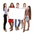 Group of take banner. — Stock Photo #2276772