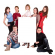 Stock Photo: Group of take banner.