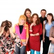 Big group of teenager. Problem. — Stock Photo