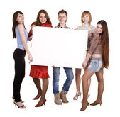 Group of take banner. — Stock Photo