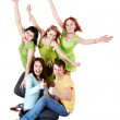 Happy group of young — Stock Photo #2281388