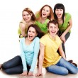 Group happy in green. — Stock Photo #2281776