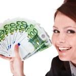 Businesswomen with group of money. — Stock Photo #2284308
