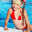 Girl with goggles and red swimsuit. — Stock Photo #2284703
