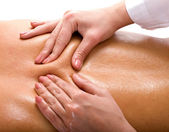 Massage of back. Spa resort. — Stock Photo