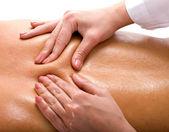 Massagem de costas. resort spa. — Foto Stock