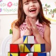 Child with block and construction set — Stock Photo #2302737