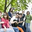 Group of student on weekend. — Stock Photo #2336245