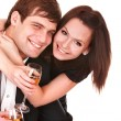 Stock Photo: Couple of girl and man