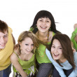 Cheerful group of young - Stock Photo