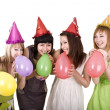 Teenagers celebrate birthday — Stock Photo #2534075