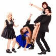 Dance of group happy — Stock Photo #2534964