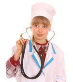 Child in costume of doctor. — Stock Photo