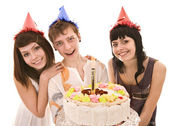 Group in party hat — Stock Photo