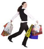 Businesswomen with bag shopping — Stock Photo