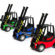 Toy forklifts — Stock Photo