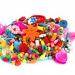 Foto Stock: Childrens colored trinket