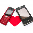 Phone love - Foto Stock