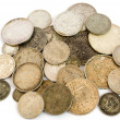 Old european silver coins — Stock Photo