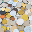 Old european coins background — Stockfoto