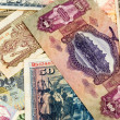 Old European banknotes background — Stock Photo
