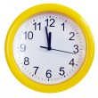 Yellow wall clock - Foto Stock
