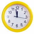 Yellow wall clock — Stockfoto #1024016