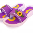 Royalty-Free Stock Photo: Slippers with sunflower