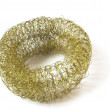 Stock Photo: Metal scourer for cookware