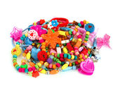 Childrens colored trinket — Stockfoto