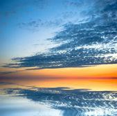 отражение заката — Стоковое фото