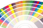 Fan av färger och toner prover — Stockfoto