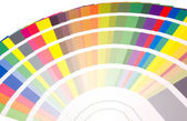 风扇的颜色和色调的样本 — 图库照片