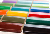 Samples of colors of paint — Stock Photo