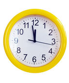 Yellow wall clock — Stock Photo